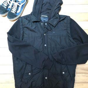 RVCA puffer vest sweatshirt jacket